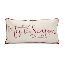 Christmas Is The Season Embroidered Pillow