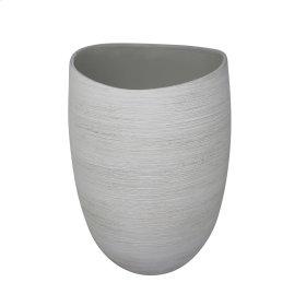 "Ceramic Vase 12"", White"