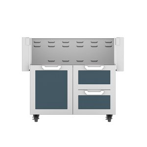 "Hestan36"" Hestan Outdoor Tower Cart with Door/Drawer Combo - GCR Series - Pacific-fog"