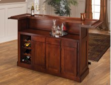 Classic Brown Cherry Large Bar Top
