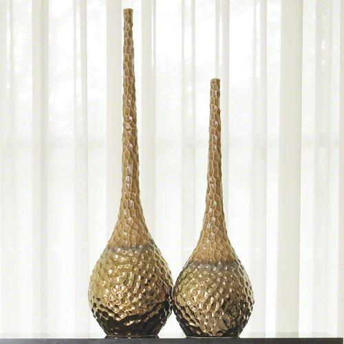 Chiseled Blonde/Bronze Vase-Sm