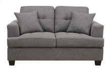 Emerald Home Clearview Loveseat W-2-pillows Grey U3610a-01-13