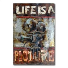 Life is a Picture 31x47 Metal