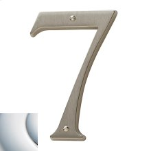 Polished Chrome House Number - 7