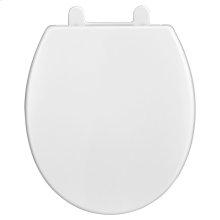 Telescoping Round Front Luxury Toilet Seat  American Standard - White