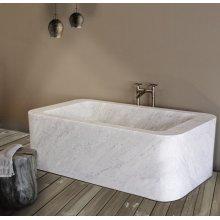 One of A Kind Bathtubs Rectangle / Carrara Marble