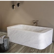 One of A Kind Bathtubs Rectangle / Carrara Marble
