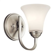 Keiran 1 Light Wall Sconce with LED Bulb Brushed Nickel