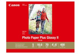 Canon Photo Paper Plus Glossy II - PP-301 - 4x6 (400 Sheets) Photo Paper Plus Glossy II
