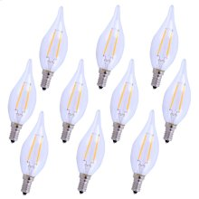 LED E12 CANDELABRA, 2700K, 300°, CRI80, ES, UL/CUL, 2.5W, 25W EQUIVALENT, 15000HRS, LM165, DIMMABLE, 2 YEARS WARRANTY, INPUT VOLTAGE 120V 10 PACK