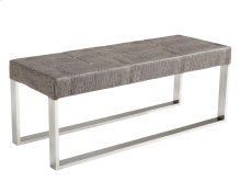 Mirage Crocodile Bench - Grey