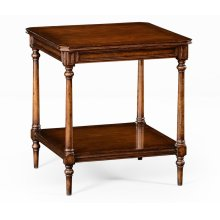 Victorian Style Walnut Side Table