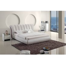 Modrest Modern White Leatherette Bed