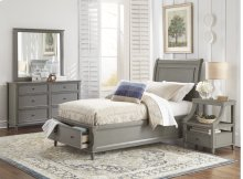 Avignon Grey Twin Storage Bed