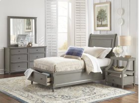 Avignon Grey Twin Storage Bed