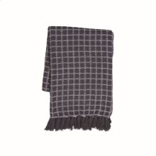 Hand Woven Barrett Throw Charcoal