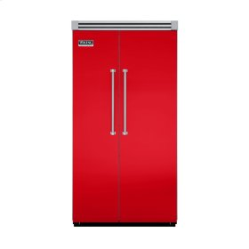 """Racing Red 42"""" Side-by-Side Refrigerator/Freezer - VISB (Integrated Installation)"""