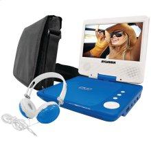 """7"""" Swivel-Screen Portable DVD Player Bundle (Blue)"""