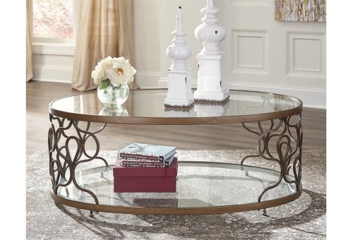 T086-0  Oval Cocktail Table