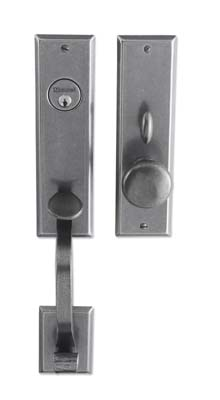 "Entrance Handle Set - Complete single cylinder set for 2 1/4"" door"