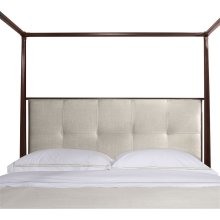 Artisan Poster Bed (Queen) with Low Biscuit-Stitched Uph. Headboard