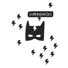 Superheroes Wall Decals - Black