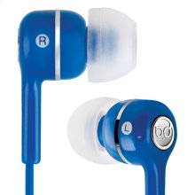 Blue in-ear stereo headphones by Bell'O Digital