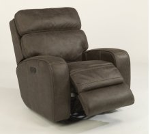 Tomkins Fabric Power Gliding Recliner with Power Headrest