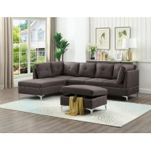 BROWN SECTIONAL CHAISE