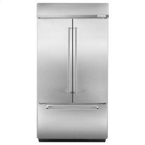 "KitchenaidKitchenAid® 24.2 Cu. Ft. 42"" Width Built-In Stainless French Door Refrigerator with Platinum Interior Design - Stainless Steel"