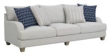 Sofa W/4 Accent Pillows-gray #dtt601-1