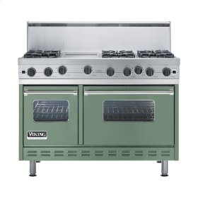 "Mint Julep 48"" Open Burner Range - VGIC (48"" wide, six burners 12"" wide griddle/simmer plate)"