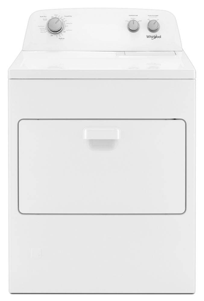 R ft Plus Option Duet TM WHIRLPOOL WED7590FW 7.4 cu Long Vent Front Load Electric Dryer with Wrinkle Shield
