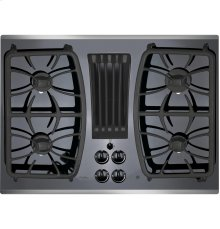 "GE Profile™ Series 30"" Built-In Gas Downdraft Cooktop"