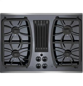 "GE Profile Series 30"" Built-In Gas Downdraft Cooktop"