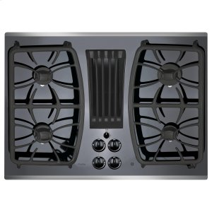 "GE ProfileSeries 30"" Built-In Gas Downdraft Cooktop"