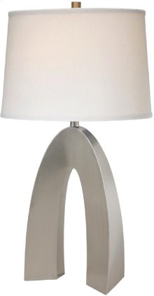 Table Lamp, Ps/off-white Fabric Shade, E27 Cfl 23w