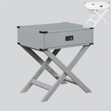 Hudson Chairside Table White