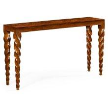 Walnut Barleytwist Console Table