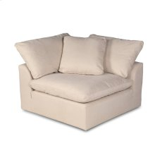 Sunset Trading Cloud Puff Slipcovered Modular Sectional Corner Chair