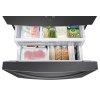 Samsung 23 Cu. Ft. 3-Door French Door, Counter Depth Refrigerator With Coolselect Pantry In Black Stainless Steel