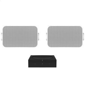 SonosBlack- Outdoor sound with Amp and Sonos Outdoor by Sonance