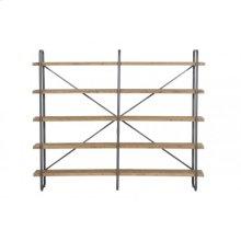 Shelving unit 5 layers 244x47x200 cm CALLAO wood