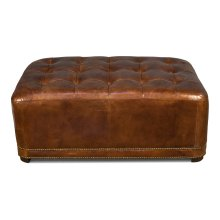 Club Royal Leather Ottoman