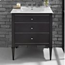 "Charlottesville w/Nickel 30"" Vanity - Vintage Black Product Image"