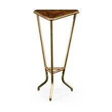 Argentinian Walnut Veneered Triangle Lamp Table