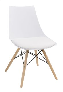 Annette - Dining Chair White Pu Seat-wood Leg Base (Set of 2)