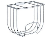 Guest towel basket - chrome-plated