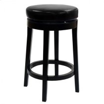 "Mbs-450 26"" Backless Swivel Barstool in Black Bonded Leather Product Image"