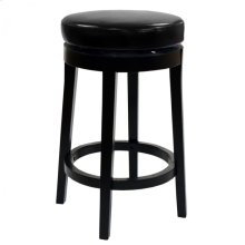 "Mbs-450 26"" Backless Swivel Barstool in Black Bonded Leather"